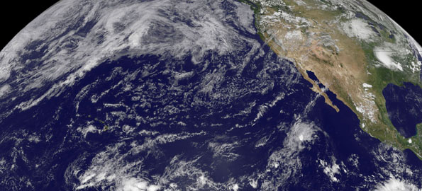 The Eastern Pacific Low pressure system forecasters have been watching since Monday, June 8, hasn't made the leap to a tropical depression because of wind shear.