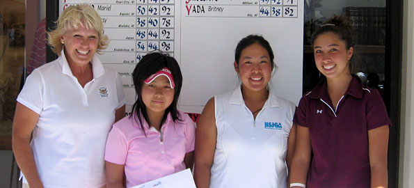Alina Ching (Honolulu) shot a three-over 75 to claim medalist honors in breezy conditions today at Mauna Lani Resort. Cassy Isagawa (Wailuku) finished with a 78 and Serena Aoki (Japan) shot 80 to claim the remaining two qualifying berths.