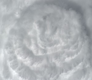 Deep Convective Clouds  A 2009 astronaut photo from the International Space Station (ISS) of deep convective clouds, seen from above, over the Atlantic Ocean. Free standing and embedded towering convective clouds are particularly dangerous to aircraft flying over the open ocean.