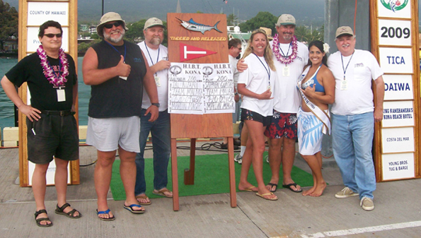 California team gets biggest opening day splash at Kona's billfish tournament; fishing continues until Friday; weigh-in 4 p.m. daily at Kailua Pier