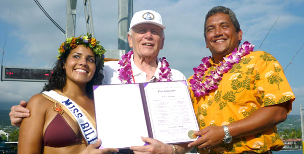 Mayor recognizes efforts in promoting Kona and nurturing tournament that draws world's top anglers