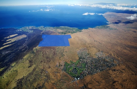 The Villages of Aina Le'a site in Hawaii (in blue)