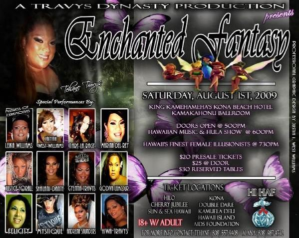 'Enchanted Fantasy' show to benefit Hawaii Island HIV/AIDS foundation Aug. 1