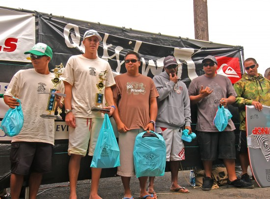 Open Bodyboard Final -  1st. Matt Solomon, 2nd. Kealoha Kaaua, 3rd. Nacoma Herrington, 4th. Danie Villena, 5th. Micah Salazar, 6th. Jon Patrich Alcoran