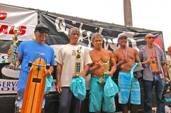 Open Longboard Final - 1st. Wayne Victorino, 2nd. Koa Enriquez, 3rd. Sode Kabalis, 4th. John John, 5th. Alika Weber, 6th. Tomo Saito (Uncle Eddie accepting for Koa)
