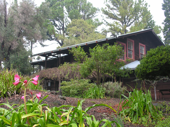 Listed on the National Register of Historic Places, Ainahou Ranch House was built in 1941 as a mountain retreat by Herbert C. Shipman, a descendant of one of Hawaii's oldest missionary families. (Photo courtesy of Friends of Hawaii Volcanoes National Park)