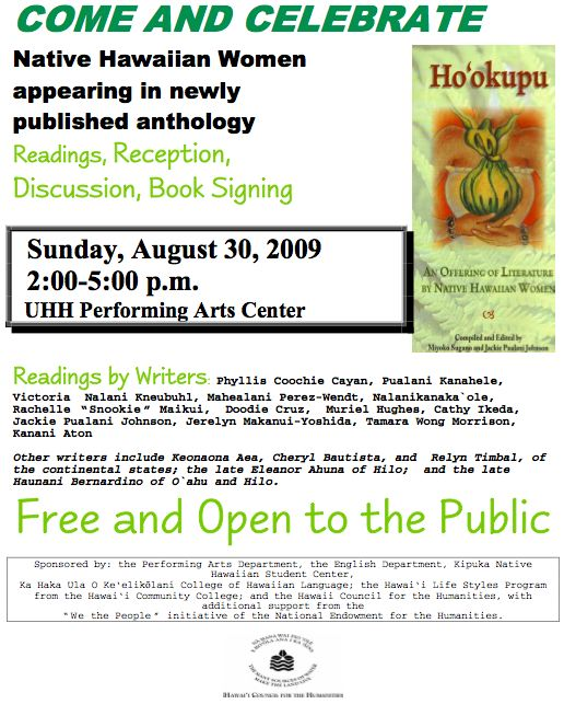 NativeHawaiianWomenReadingsFlyer