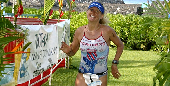 Kailua-Kona's Bree Wee was the first female finisher and fifth overall in the Lavaman Keauhou Triathlon. Wee's overall time was 2:08:18.