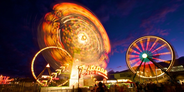 The Hawaii County Fair is underway in Hilo with an E.K. Fernandez midway and rides. The fair continues through Sunday.