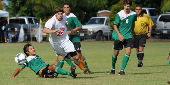 In a re-match, the University of Hawaii at Hilo beat Hawaii Pacific University 3-1 on Amauulu Field in Hilo to claim the Vulcans' Pacific West Conference opener.