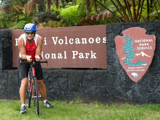 Training at Kilauea volcano's 4,000-foot summit provides a workout for Bill Greineisen's legs and lungs. (Photo courtesy Bill Greineisen)