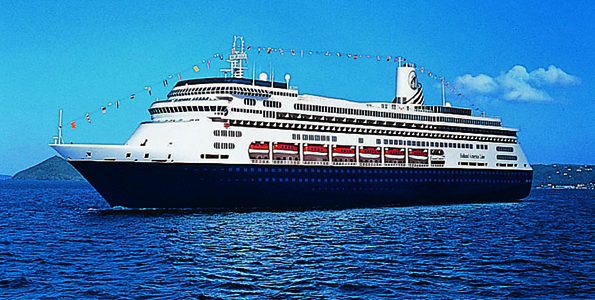 The ms Zaandam joined the Holland America Line fleet in May 2000. Her godmothers are Mary Kate and Ashley Olson. (Photo courtesy of Holland America Line)