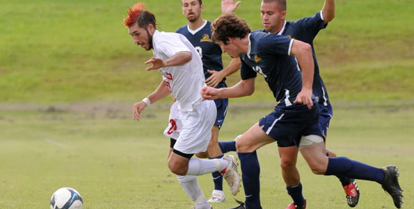 The University of Hawaii at Hilo fell to Notre Dame de Namur University 2-1 in a Pacific West Conference match on Amauulu Field in Hilo, Hawaii.  The Vulcans are 6-8 overall and 5-3 in the PacWest while the Argonauts are 7-8-1 overall and 7-7-1 in the PacWest.