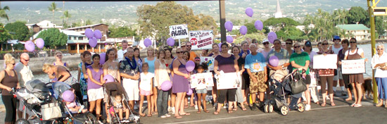 The rally against family violence. (Photo special to Haqwii247)