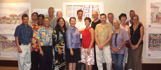 Among those who joined in the week-long charrette were representatives from PlaceMakers, county Planning Department and Department of Public Works, and Kona CDP Steering and Action Committees. (Hawaii 24/7 photo by Karin Stanton)