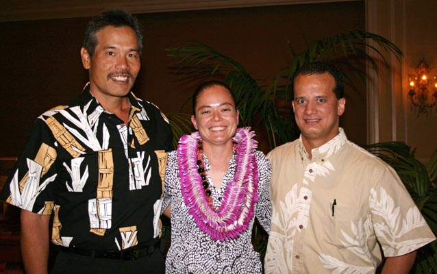 """The Hawai'i State Law Enforcement Officials Association has named Detective Sherry Bird as the Hawai'i Police Department's Officer of the Year for 2009.  Bird, an 11-year veteran of the Police Department, is assigned to the Ice Task Force in Kona.  Since she joined the unit in September 2008, Bird and the Ice Task Force either were directly involved with or assisted in the recovery of approximately 3 pounds of """"ice,"""" 5.7 ounces of cocaine, 1,205 marijuana plants, 7.5 pounds of dried marijuana and 14 grams of heroin."""