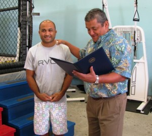 BJ Penn and Mayor Billy Kenoi
