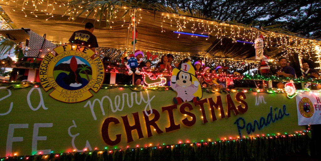 The 24th annual Lehua Jaycees Christmas Parade rolled through Hilo town Saturday evening (Nov 28).