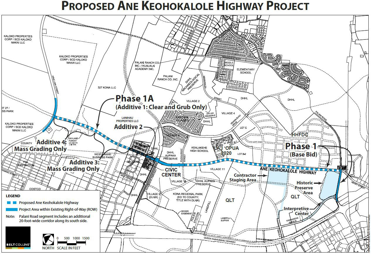 Bids opened for first phase of Ane Keohokalole Highway