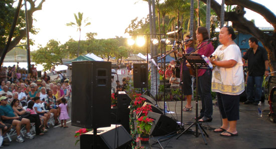 Na Leo performs during Sunday's Kokua Kailua Stroll on Alii Drive. (Hawaii 24/7 photo by Karin Stanton)
