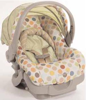 Dorel has received 77 reports of the child restraint handle fully or partially coming off the car seat/carrier resulting in at least three injuries to infants including bumps, bruises and a head injury.