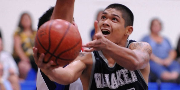 In Wednesday night (Jan 6) boy's basketball action, at Kamehameha-Hawaii Keaau campus gym, Waiakea defeated Kamehameha 45-36. The high scorers for Waiakea was Isaak Janado 13, Matt Libao 12, & Chris Mattos 11. Colby Cabatu was the high scorer for Kamehameha with 12 points.