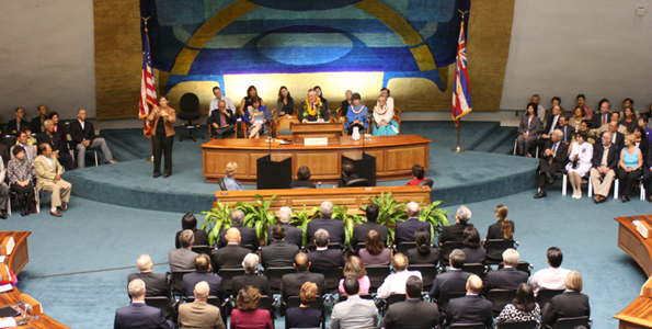 Chief Justice Ronald Moon delivered his final State of the Judiciary before the Legislature on Wednesday, Jan. 27 in Honolulu.