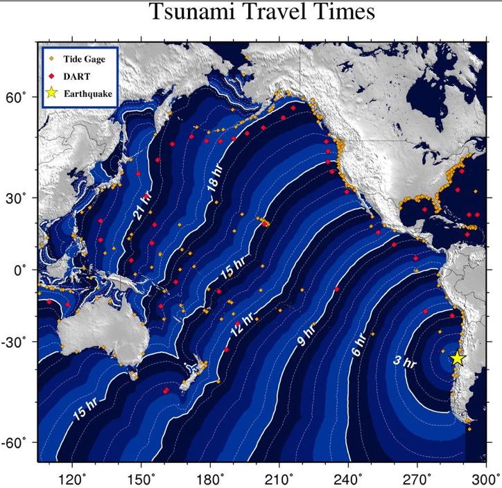 Tsunami: Watch cancelled for Hawaii at 1:42 p.m.