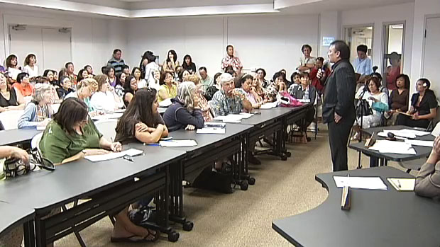 The committees on Human Services and Housing held an informational briefing at the Aging and Disability Resource Center in Hilo Thursday (March 25) to review the proposed reduction in services by the Department of Human Services (DHS).