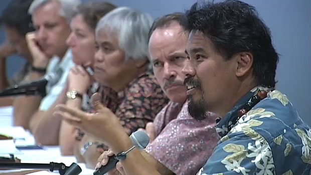 The Board of Land and Natural Resources listened to public testimony both for and against the Mauna Kea Comprehensive Management Plan sub-plans Thursday (March 25) at Imiloa Astronomy Center and voted 6-0 to accept the plans.