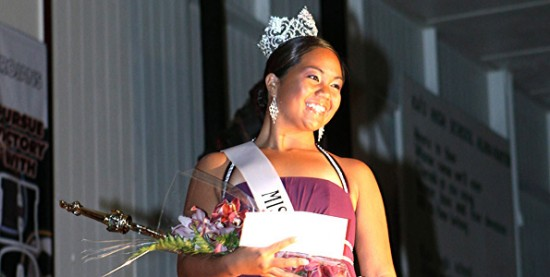 Ulu Makuakane was crowned Miss Ka'u Coffee in Pahala on March 27. (Photo special to Hawaii 24/7 by Claire Suzuki)