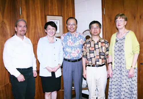The future of astronomy in Hawai'i has received a boost from Subaru Telescope, which recently presented a generous gift of $8,600 to UH Hilo on behalf of the Japan Foundation for the Promotion of Astronomy (JFPA). The donation establishes a new Subaru Telescope Success Scholarship, which will support a UH Hilo student pursuing a degree in physics or astronomy over four consecutive years of study.