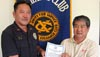 """The Aloha Exchange Club of East Hawai'i recognized Puna Patrol Officer Kenneth Ishii on Thursday (April 22) as """"Officer of the Month"""" for April.  Ishii was honored for his investigation of juveniles in possession of stolen property in the Hawaiian Beaches subdivision in Puna. His efforts led to the discovery of four additional burglaries of vacant houses and the recovery of stolen items."""