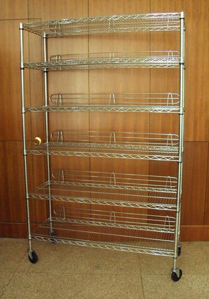 Shelving unit casters can break at the stem causing the unit to collapse or fall, posing an injury hazard. The firm has received one reported incident. No injuries reported. About 6,800 units are recalled.
