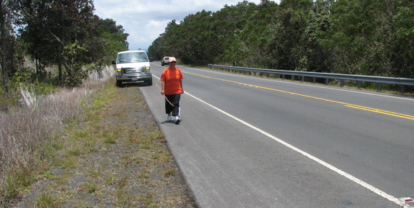 Cool and windy Monday leads fund-raising walker into Kurtistown; cruising through Hilo during Tuesday's segment