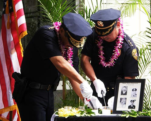 Members of the public helped the Hawai'i Police Department celebrate Police Week on Monday (May 10) at the Hilo police station.