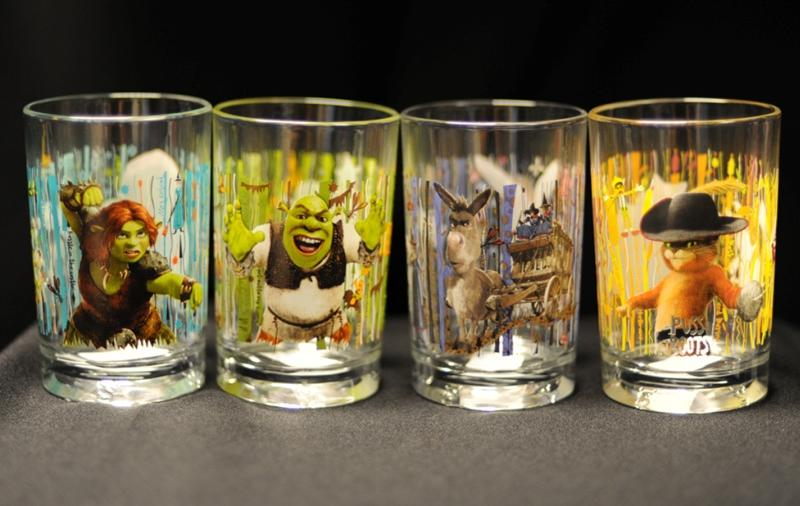 "The ""Shrek Forever After 3D"" collectable drinking glass are 16 ounce glasses that came in four designs, Shrek, Fiona, Puss n' Boots, and Donkey. The designs on the glasses contain cadmium. Long term exposure to cadmium can cause adverse health effects."
