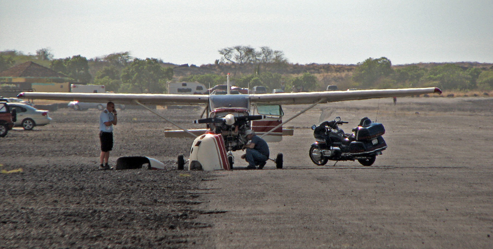 """""""Basically just lost the engine over the airport and glided in,"""" the pilot Hawk Rolewicz said. """"It went pretty flawlessly for an emergency. Everyday is exciting, but today was more exciting than most."""""""