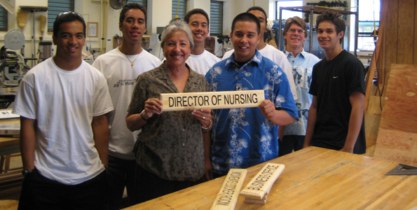 Senior Legacy Project beautifies hospital with 52 new signs