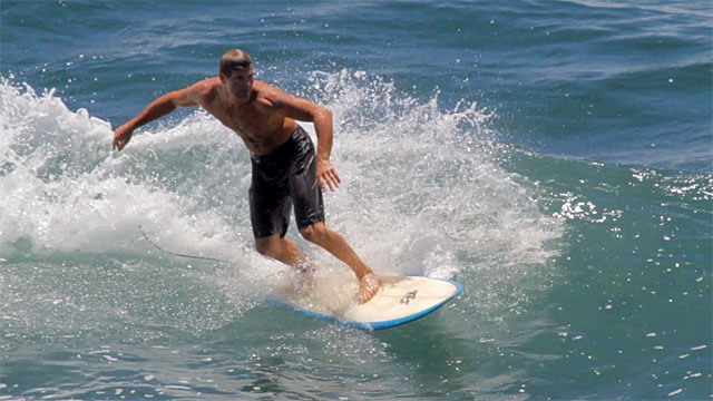 The week saw a high surf advisories for south shores of all islands and surfers tried to take advantage of that. The surf wasn't big at Honolii but it beats being stuck in traffic or at work.