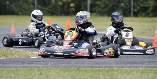 Images from the Orchid Isle Ohana Kart Club races in Hilo.