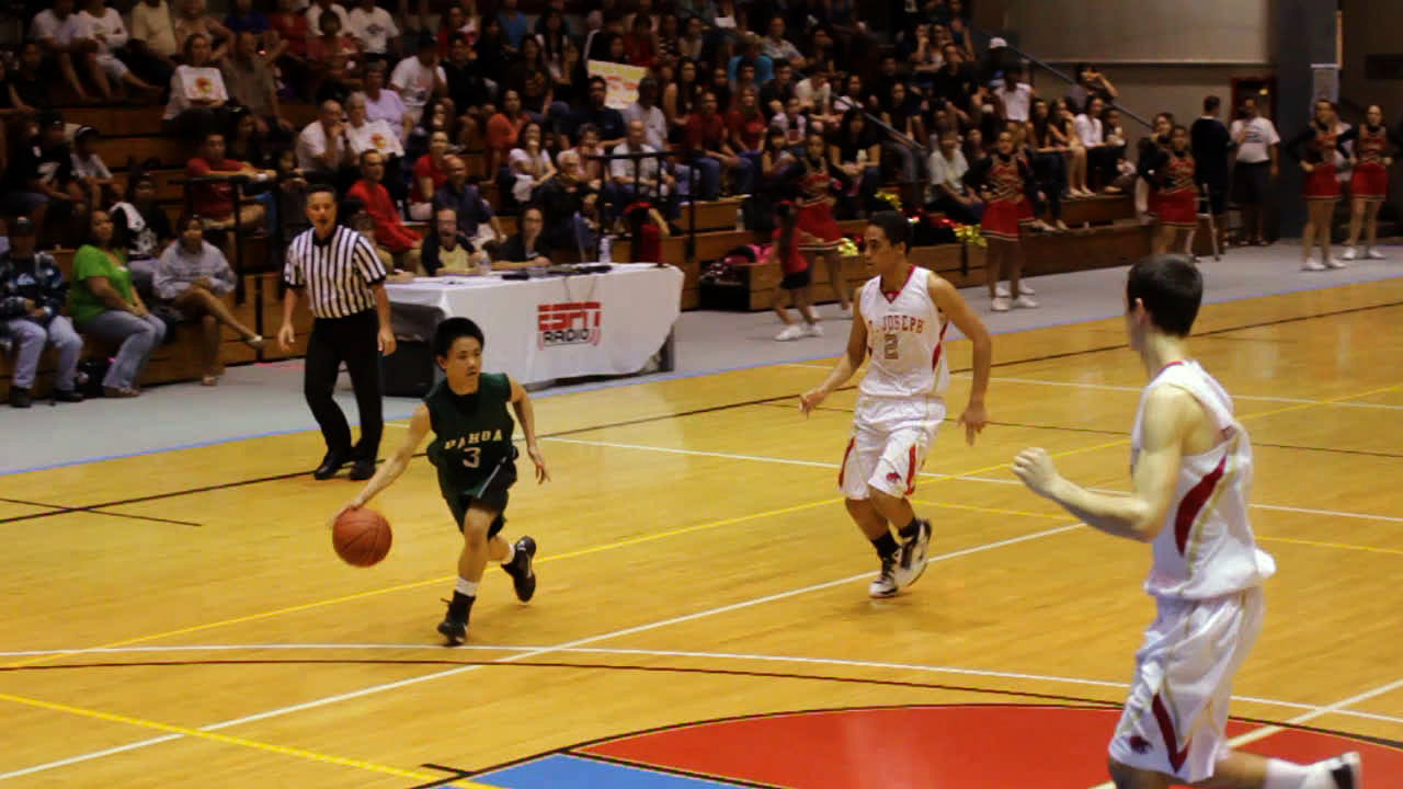The Pahoa Daggers defeated the St. Joseph Cardinals 59-55 in the BIIF D-II championship game Saturday (Feb 12) at Afook-Chinen Civic Auditorium in Hilo.