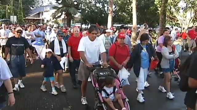 Hundreds walked, ran, strolled, marched and pawed their way through Queen Liliuokalani Gardens and Hilo Bayfront for the 14th Annual Hilo Start! Heart Walk and Fair Saturday (Feb 26).