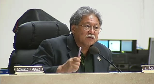 Council Chairman Dominic Yagong called an emergency meeting of the council Saturday evening to hear tsunami updates from Mayor Billy Kenoi and Civil Defense Administrator Quince Mento.