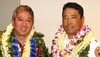 "The Aloha Exchange Club of East Hawai'i recognized Officer Lloyd Ishikawa as ""Officer of the Year"" and Battalion Chief Lance Uchida as ""Firefighter of the Year"" in a dinner ceremony Thursday evening (March 24)."