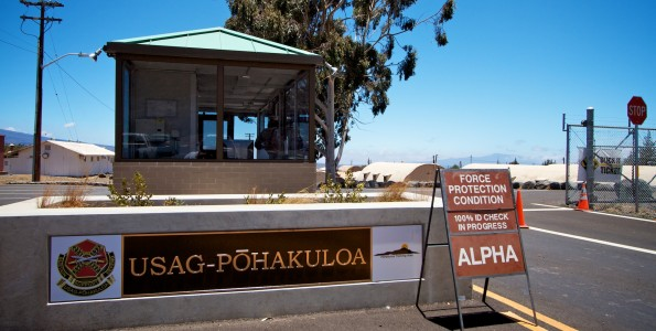 Pohakuloa Training Area entrance Hawaii 24/7 file photo
