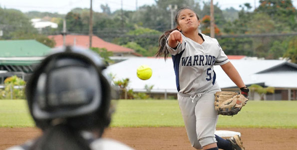 Photos of Thursday's BIIF softball match between Waiakea and Keaau.