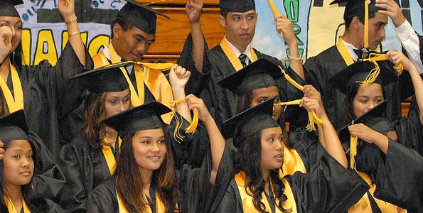 Kohala's graduation at Hisaoka Gym at Kamehameha Park in Kapaau, Kohala.