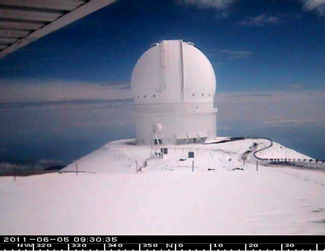 The National Weather Service in Honolulu has issued a Winter Weather Advisory for the Summits of Mauna Kea and Mauna Loa until 6 p.m. this evening (June 5).