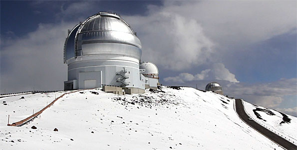 A rare June snowfall blanketed the summit of Mauna Kea up to eight inches of hail and snow closing the summit road Saturday and Sunday (June 4-5). Video of the summit along with sledding down the snowy slopes.